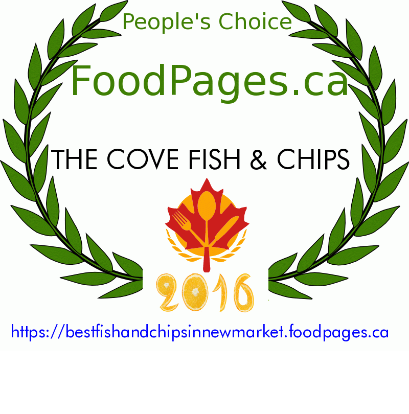 THE COVE FISH & CHIPS FoodPages.ca 2016 Award Winner
