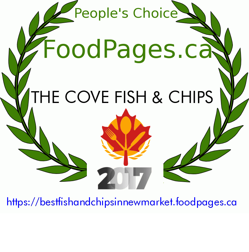 THE COVE FISH & CHIPS FoodPages.ca 2017 Award Winner